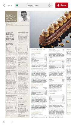 Schokolade, Banane, Profiterol, Windbeutel, Brandteig, Gianduia, Haselnuss, Ganache Chocolate Profiterole Tart