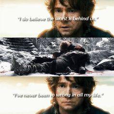 Martin Freeman as Bilbo Baggins in The Hobbit movies
