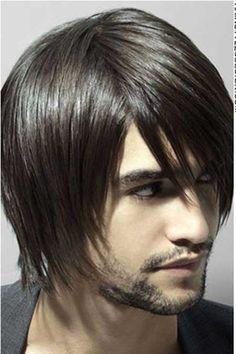 Straight long hair for men