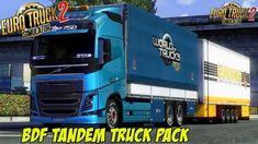 BDF Tandem Truck Pack v138 by Flemming V (1.38.x) for ETS2 All Truck, Types Of Curtains, New Mods, Semi Trailer, New Trailers, Tandem, Volvo, Mercedes Benz, Packing