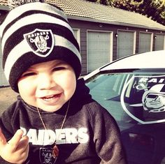 My future son will also be decked out in sports attire, just like daddy, but def not with raiders stuff! haha