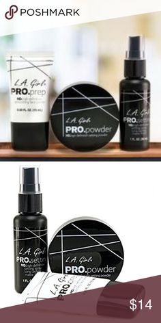 LA GIRL PRO POWDER PRIMER SPRAY SET *Lightweight and easy to apply *Seals pores and fills in fine lines *Softens skins and enhances makeup *Helps makeup stay on all day   ⭐️Brand new, never opened   ⭐️Same day ship if order before 3pm (est)  ⭐️No trades  ⭐️ Ships from Florida Makeup Concealer