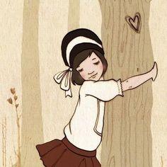 Belle - Tree Hugger, Boo and Belle Children's Book Illustration, Graphic Design Illustration, Illustration Styles, Belle E Boo, Art Party, Felt Animals, Vintage Cards, Art For Kids, Doodles