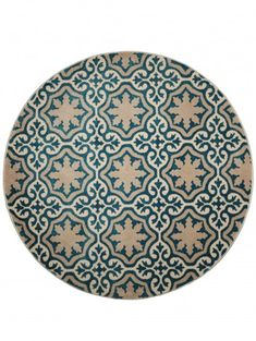 Teppich rund Mylin Blau