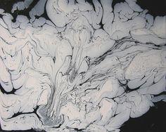 fluid-paitning-black-and-white-ii, abstrakte Malerei, Acrylmalerei