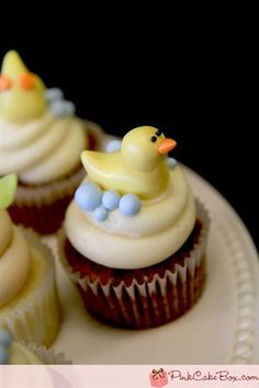 Baby Shower Duckie Cupcakes