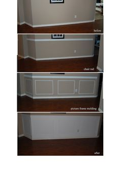 Chair rail with picture frame wainscoting #ChairRail