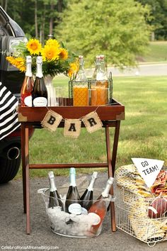 STYLISH TAILGATING WITH THE GIRLS — Celebrations at Home