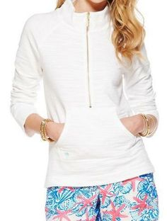 Lilly Pulitzer Skipper Popover Solid in Resort White
