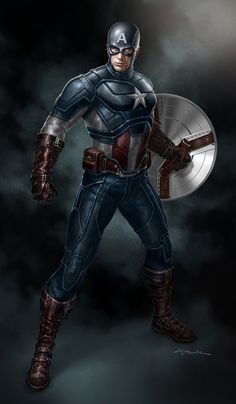 Love me some captain America. The Avengers- Captain America - Andy Park Marvel Dc Comics, Films Marvel, Hq Marvel, Bd Comics, Marvel Heroes, Marvel Fight, Capitan America Marvel, Capitan America Chris Evans, Marvel Captain America