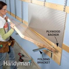 Flexible Garage Wall Storage Folding Work Table