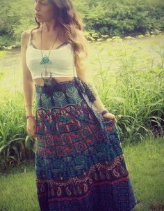 Handmade Wrap Skirt, Fabric Choices, Hippie, Organic, Sun and Moon, Bohemian Skirt, Cotton, Tapestry, Wrapron, Sundress, Maxi Skirt