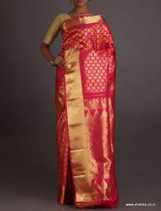 Sampada Ravishing Full Ornate Brocade Border Pallu Wedding #SalemSilkSaree