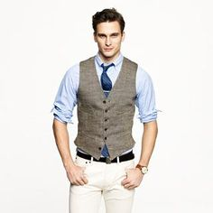 Ludlow vest in herringbone Italian linen - sportcoats & outerwear - Men's catalog/jcrew.com exclusives - J.Crew