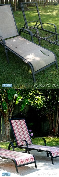 lawn chairs Backyard Furniture, Outdoor Furniture, Back Deck, Lawn Chairs, Something New, Modern Chairs, Outdoor Ideas, Outdoor Decor, Repurposed