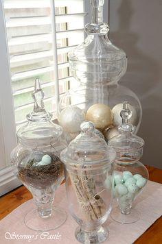 Grouped Apothecary Jars