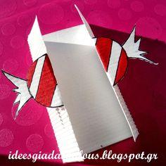 Ιδεες για δασκαλους: Χριστουγεννιάτικες καρτούλες με πατρόν! Love My Job, Xmas Crafts, Flag, Cards, Christmas, Classroom, Xmas, Class Room, Weihnachten