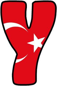 Alphabet Style, Monogram Alphabet, Turkey Country, Classroom Board, 3d Origami, Initials, Fonts, Banner, Symbols