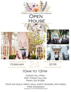 Join us for for our Annual Open House February 2018 from to Vendor Events, Local Events, Forest Hill Park, Meet Locals, Free Admission, Win Prizes, Open House, February, Join