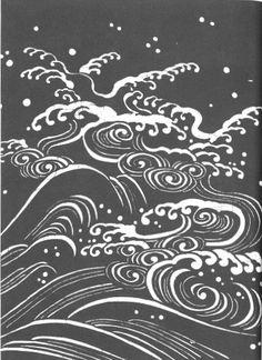 Japanese stencil - waves