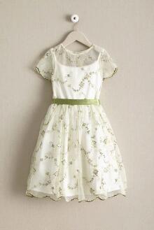 Girls Embroidered Slip Dress
