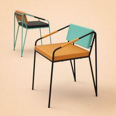 Ignacia chair by Sergio Martinez: Sergio Martinez, Chairs, Interiors, Mexicans Design, Design Sergio, Ignacia, Posts, Furniture Design, Photo