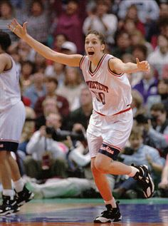 """Rebecca Lobo -  Former women's basketball player in the WNBA, member of the women's """"Dream Team"""" in basketball at the 1996 Olympics, and television basketball analyst."""