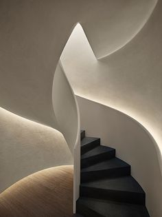 West Hollywood, John Pawson, Neutral Palette, Stairs, Hotel Hallway, Edition Hotel, Architecture, Interior, Hallways