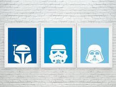 Star Wars print, Star Wars printable, Boba Fett, StormTrooper, Darth Vader…