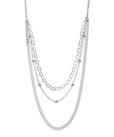 Look what I found on #zulily! Sterling Silver Layered Chain Necklace #zulilyfinds