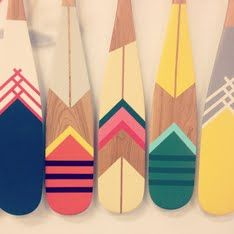"""Outdoors-inspired company in town. Montreal-basedNorquay Co., a brand """"dedicated to camping vibes,"""" has just launched with a line of vibrantly painted canoe paddles. """"Founded by a camping enthusiast obsessed with the great outdoors and equally for great design,"""" the five collections—also named after places in Canada—are sure to make a splash in the design world (albeit perhaps less so in the hardcore canoeing community)."""