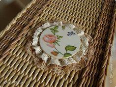 Поделка изделие Вязание крючком Плетение Короб для рукоделия и Бяшка в общую отару Пряжа Трубочки бумажные фото 5