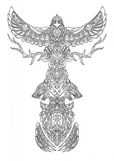 Totem Pole Coloring Pages . 30 Elegant totem Pole Coloring Pages . Luxury Vase and Flowers Coloring Pages – Kursknews Totem Tattoo, Printable Coloring Pages, Coloring Pages For Kids, Coloring Books, Coloring Sheets, Norse Tattoo, Viking Tattoos, Maori Tattoos, Totem Pole Pictures