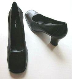 25fa653f213 ETIENNE AIGNER Women s Bloom Black Block High Heel Pump Shoes Size 9.5 M   EtienneAigner
