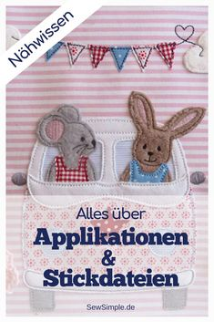 Applikationen und Stickdateien Individual is trendy – that's also true for & # s sewing! With applications and embroidery files you can give your sewing projects an individual touch. You can do applications same Easy Sewing Projects, Sewing Projects For Beginners, Sewing Hacks, Sewing Crafts, Sewing Tips, Sewing Patterns Free, Free Sewing, Diy Accessoires, Embroidery Files
