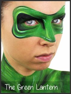 green lantern face painting by mimicks