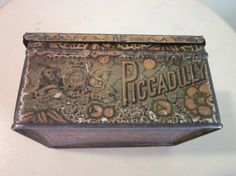 Antique Piccadilly Tobacco Tin Advertising by sweetlynetreasures, $25.00