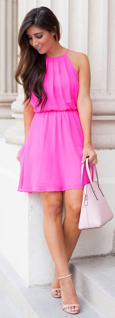 Pink Little Dress Fall Inspo by The Darling Detail