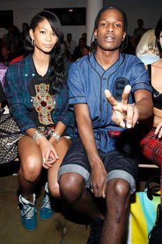 ASAP Rocky & Chanel Iman - my fav fashion couple