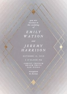Shop Zazzle's luxurious range of Geometric custom wedding invitations. Purple Wedding Invitations, Personalised Wedding Invitations, Personalized Wedding, Geometric Wedding, Geometric Art, Great Gatsby Wedding, Flower Aesthetic, Blush Color, Flower Frame