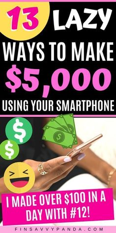 13 Best Money Making Apps (Make Money With Your Smartphone Here are the best money making apps to make money fast. Time to make money with your smartphone for free everyday! Start earning today with no investment! Ways To Earn Money, Earn Money From Home, Make Money Fast, Earn Money Online Fast, Ideas To Make Money, Need Cash Fast, Fast Cash, Need Money, Extra Cash