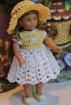 Crochet outfit for AG Mini 6 inch doll by dollcrochetboutique