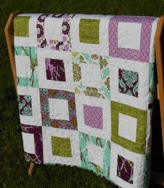 quilt ideas. I made this quilt once...love it in these colors too.