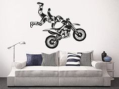 Wall Decal Vinyl Sticker Decals Art Decor Design Bedroom Nursery Motocross Dirty Moto Jumping Freestyle Moto Rider Kids Bedroom Dorm Home (r1425) CreativeWallDecals http://www.amazon.com/dp/B00SIT4F7O/ref=cm_sw_r_pi_dp_Kqwavb1PR3381