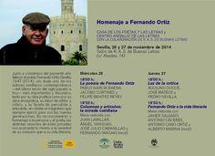 Homenaje al poeta sevillano Fernando Domínguez #Sevilla #poesia