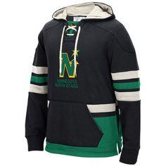 Minnesota North Stars CCM Pullover Hoodie - Black - $63.99