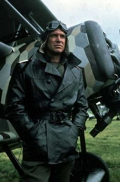 """George Peppard in """"The Blue Max"""" (John Guillermin, 1966 Max Movie, Movie Tv, George Peppard, Flying Ace, War Film, Old Tv Shows, Great Films, The A Team, King Kong"""