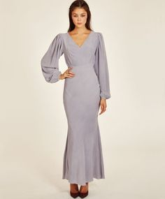 AWAVEAWAKE Lavender Bias Cut Dress $797.00