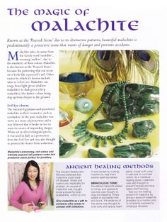 Crystals & Stones: The Magic of Malachite.