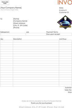 catering receipt template